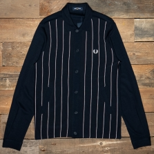 Fred Perry J1553 Knitted Panel Track Jacket 608 Navy