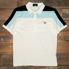 Fred Perry M1815 Towelling Panel Polo Shirt 560 Ecru