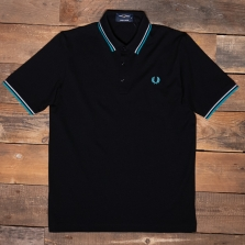 Fred Perry M102 Made In Japan Pique Shirt N06 Black