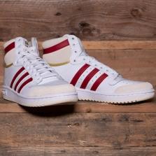 adidas Originals S24133 Top Ten White Vibrant Red