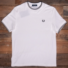 Fred Perry M2613 Towelling T Shirt 129 Snow White