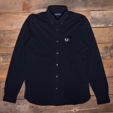 Fred Perry M1657 Pique Texture Shirt 608 Navy