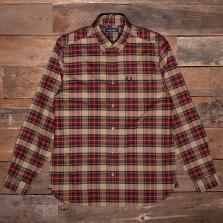 Fred Perry M2689 Tonal Tartan Shirt 363 Warm Stone