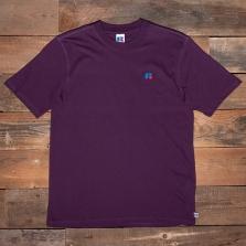 RUSSELL ATHLETIC E16002 Baseliners Logo T Shirt 684 Deep Purple