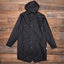 Rains Long Waterproof Jacket 01 Black