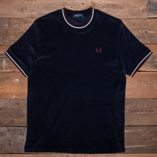 Fred Perry M2613 Towelling T Shirt 608 Navy