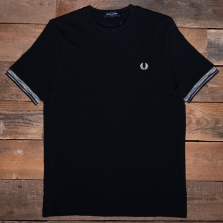 Fred Perry M2626 Spaced Dye Tipped T Shirt 102 Black