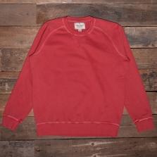 NIGEL CABOURN J-2 Embroidered Arrow Crew Sweatshirt Vintage Red