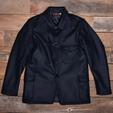 VETRA 2f05 Mens Quilted Woolen Hunting Jacket Navy