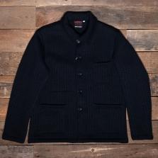 VETRA 5u55 Knitted Wool Jacket Navy
